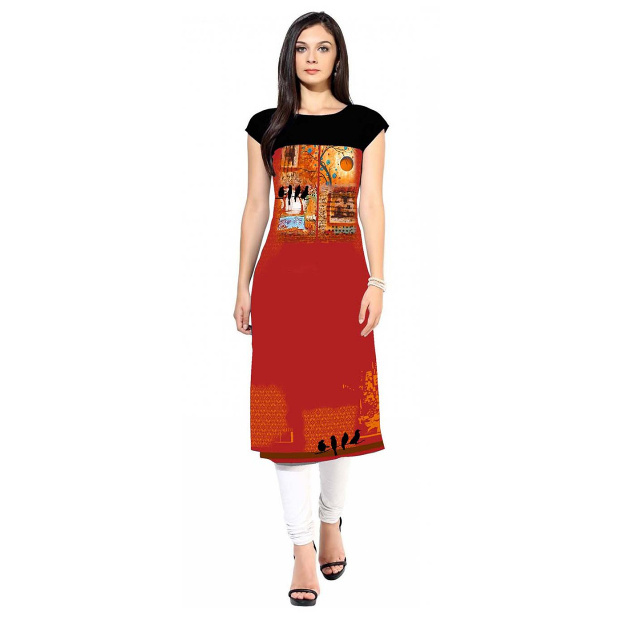 Marvellous Casual Printed Crepe Kurti - Pack of 2