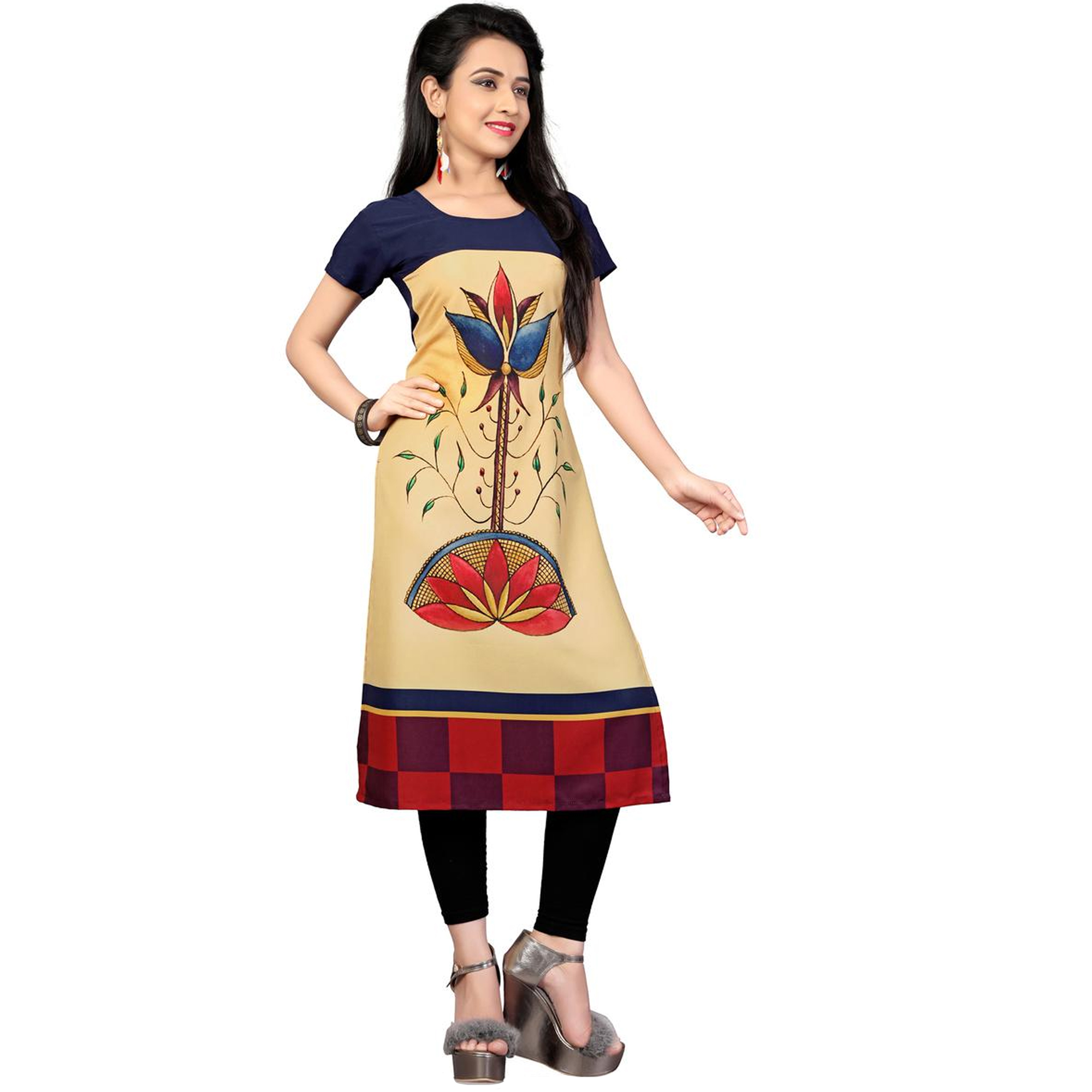 Gorgeous Casual Printed Crepe-Cotton Kurti - Pack of 2