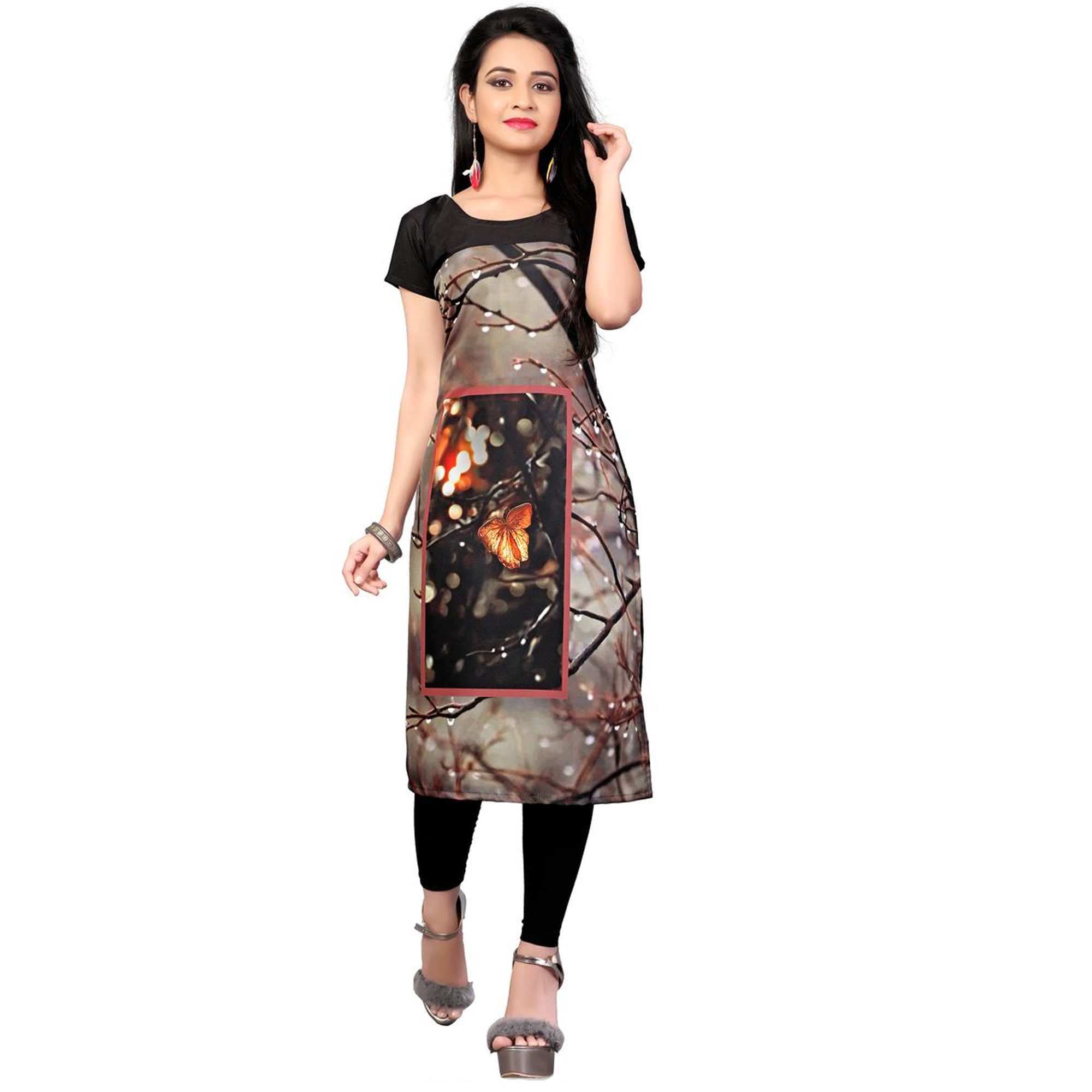 Blooming Casual Printed Crepe Kurti - Pack of 2