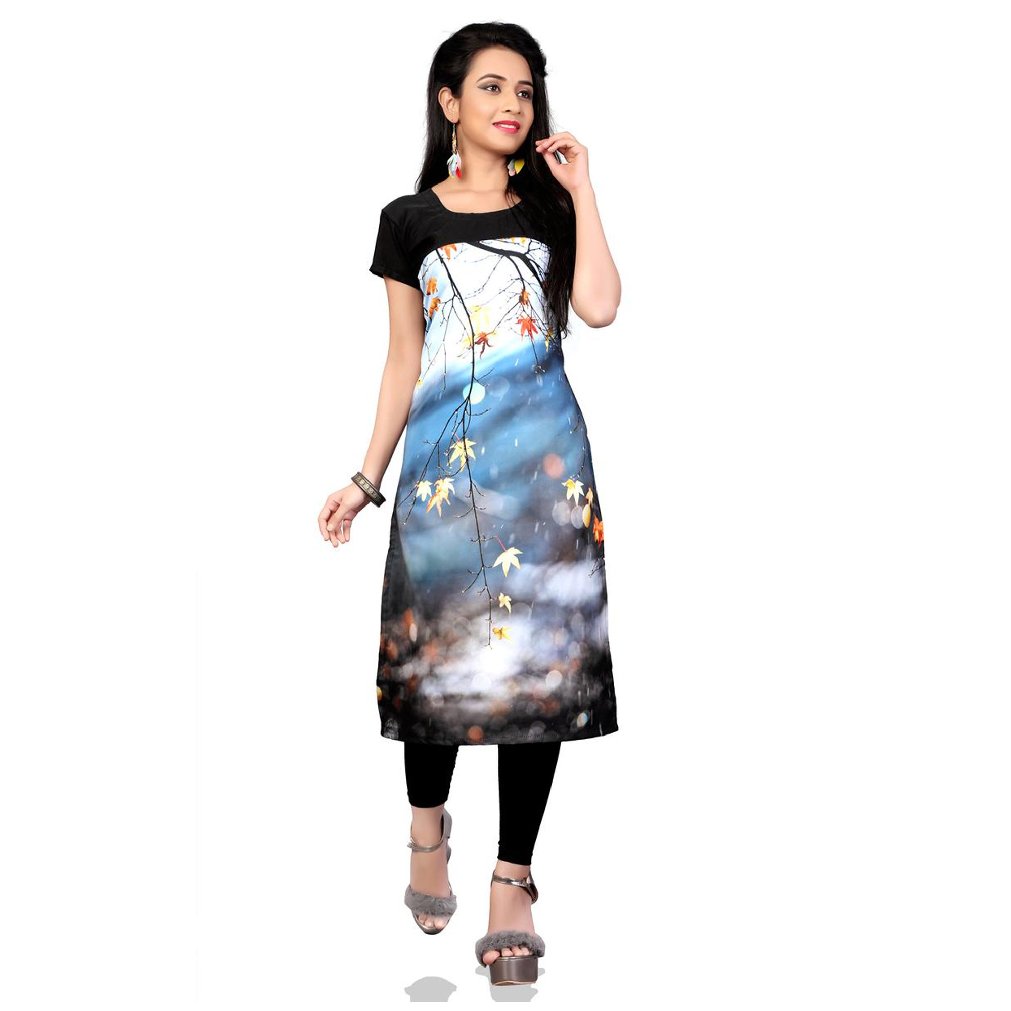 Lovely Casual Printed Crepe Kurti - Pack of 3