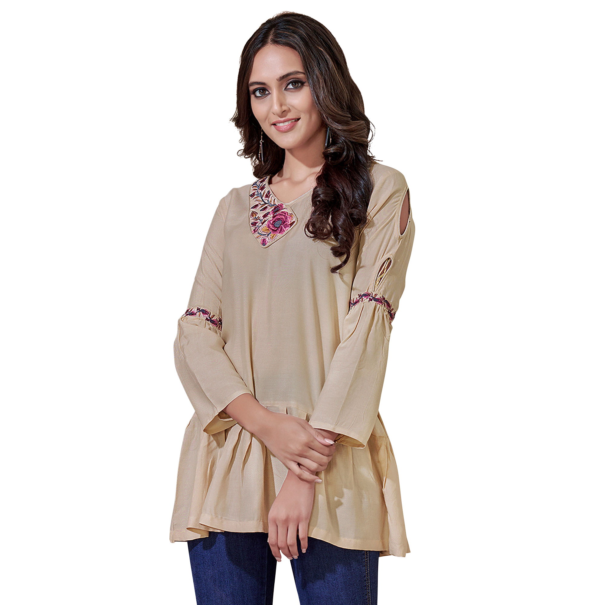 Energetic Partywear Embroidered Rayon Western Top - Pack of 2