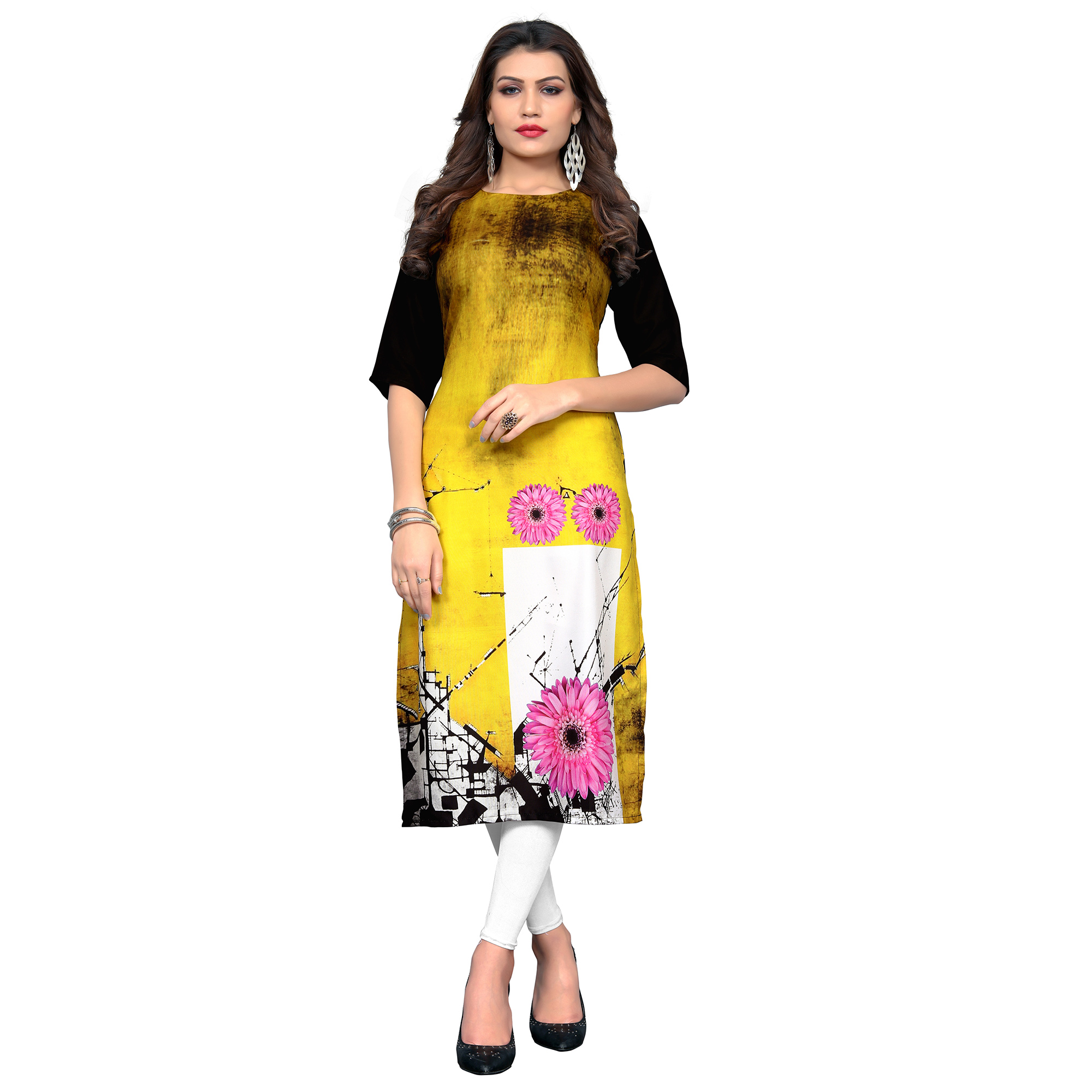 Graceful Casual Printed Crepe Kurti - Pack of 2