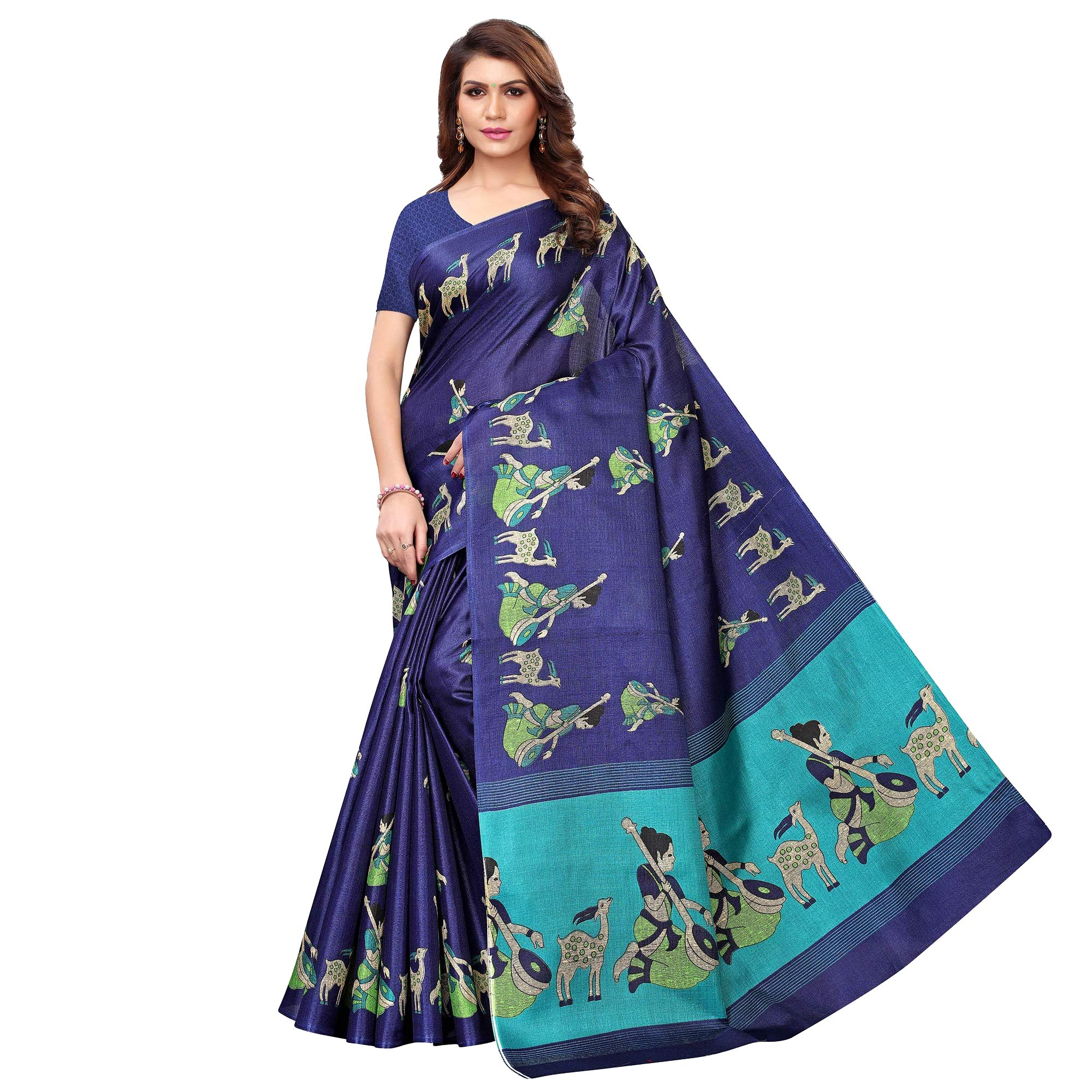 Captivating Casual Printed Art Silk Saree - Pack of 2