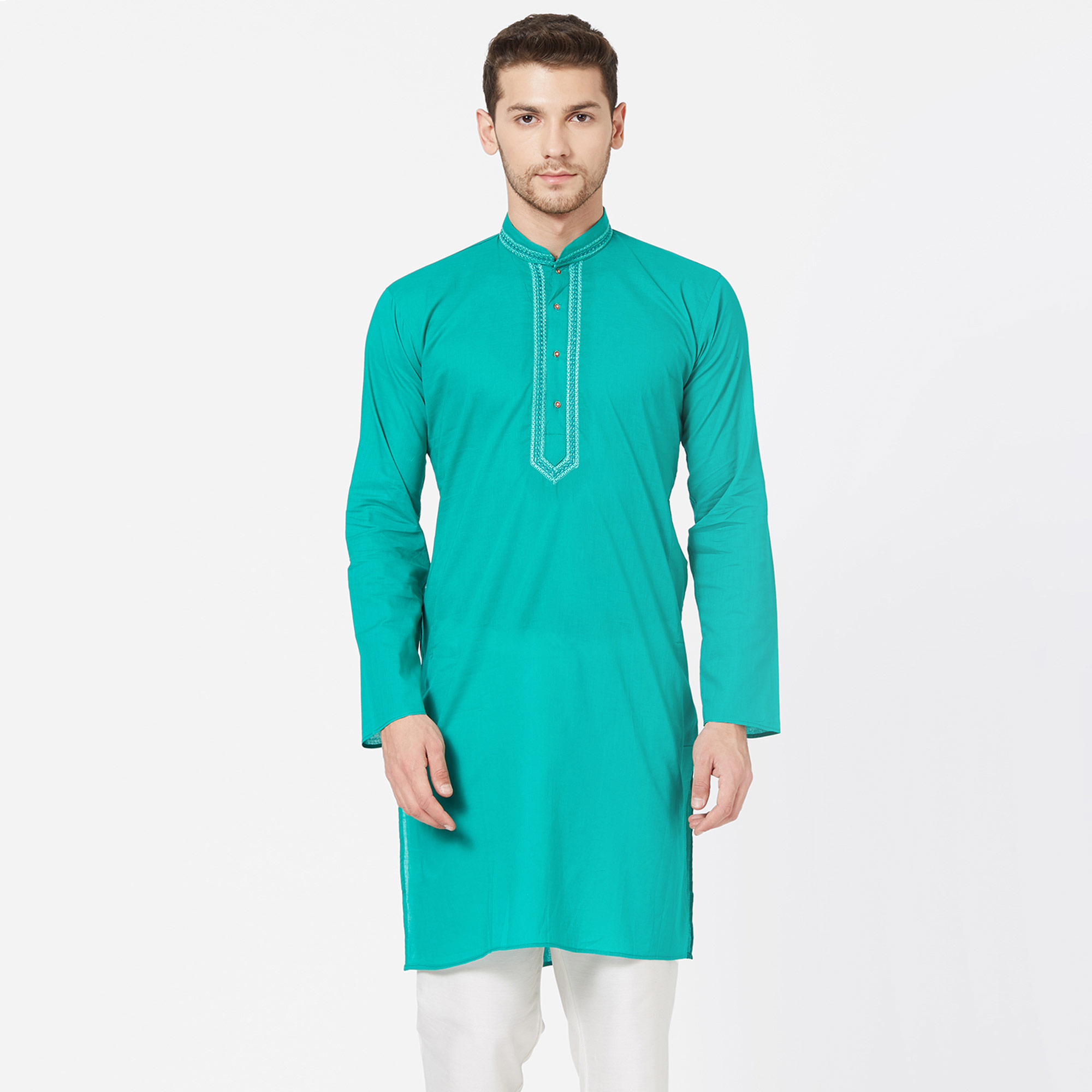 Desirable Festive Wear Cotton Kurta - Pack of 3