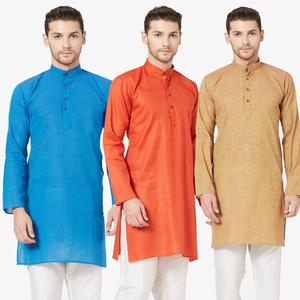Stunning Festive Wear Cotton Kurta - Pack of 3