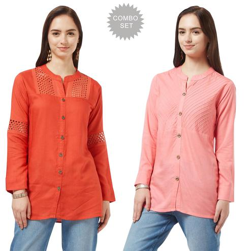 Breathtaking Casual Cotton Short Kurti - Pack of 2