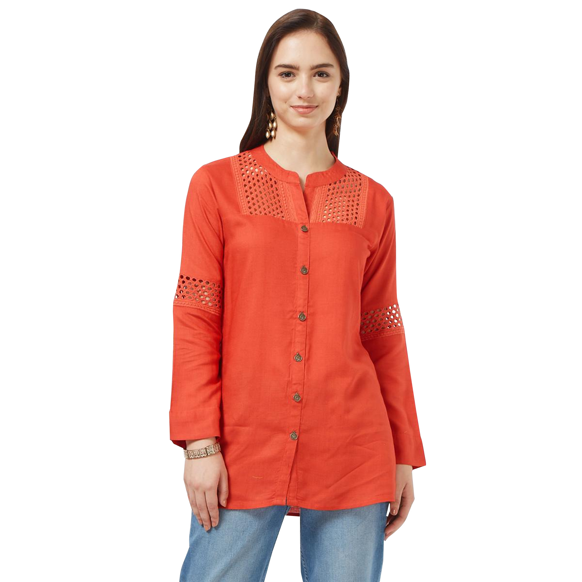 Dazzling Casual Cotton Short Kurti - Pack of 2