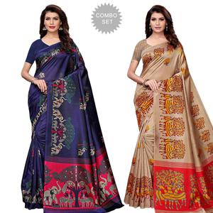 Amazing Festive Wear Art Silk Saree - Pack of 2