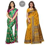Lovely Festive Wear Art Silk Saree - Pack of 2