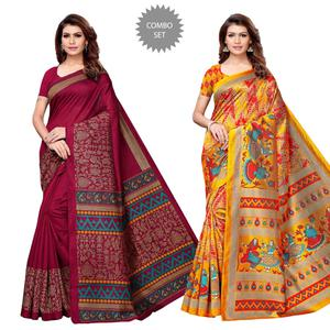Charming Festive Wear Saree - Pack of 2