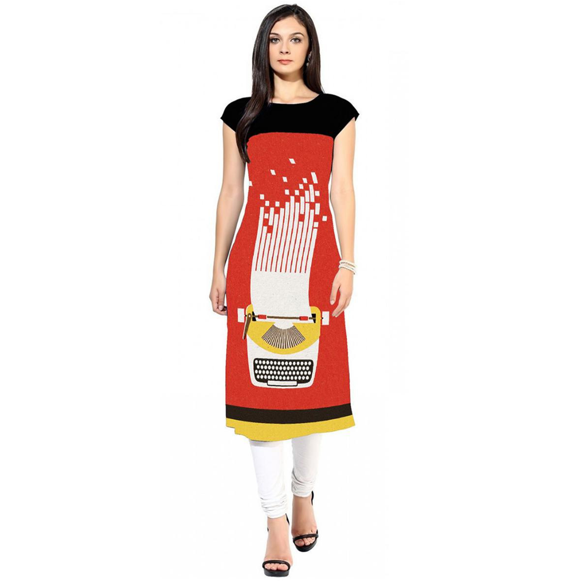 Lovely Colored Casual Printed Crepe Kurti - Pack of 2