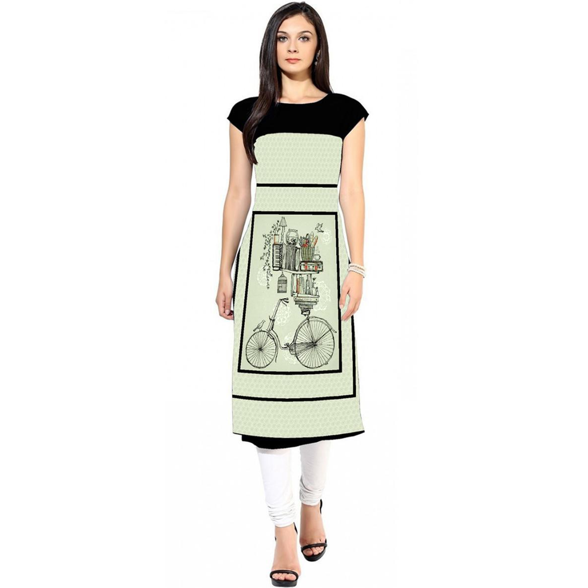 Engrossing Colored Casual Printed Crepe Kurti - Pack of 2