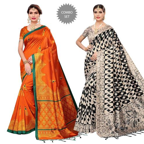 Pleasance Festive Wear Art Silk Saree - Pack of 2