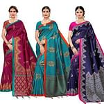 Amazing Festive Wear Art Silk Saree - Pack of 3