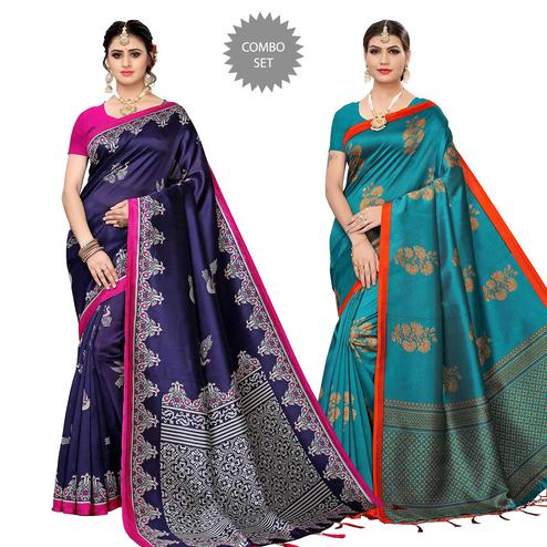 Gorgeous Festive Wear Art Silk Saree - Pack of 2
