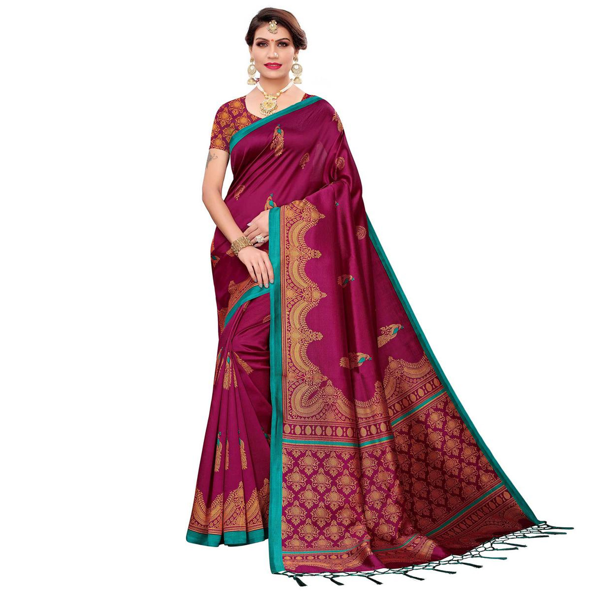 Blissful Festive Wear Art Silk Saree - Pack of 2