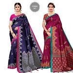 Ideal Festive Wear Art Silk Saree - Pack of 2