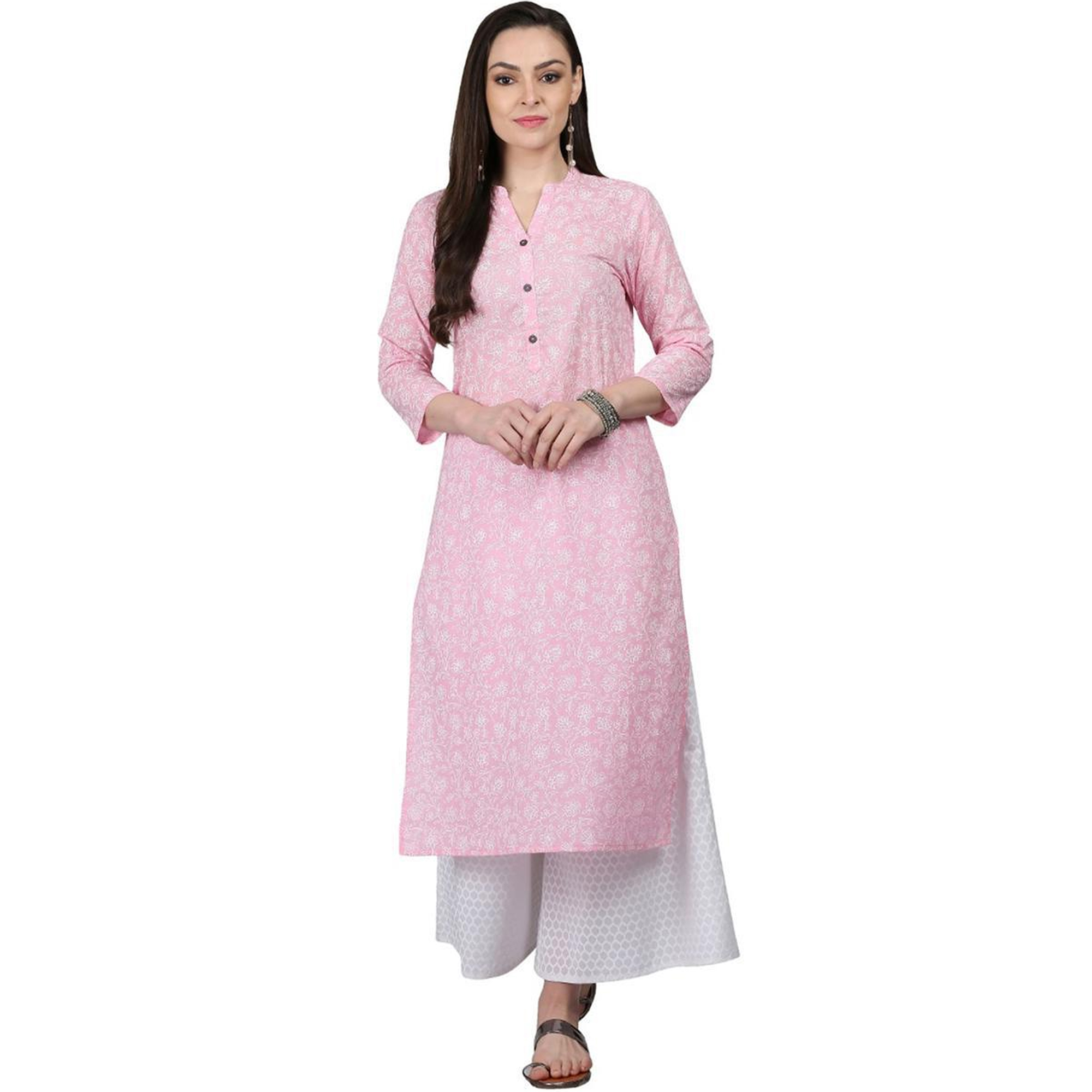 Delightful Casual Printed Cotton Kurti - Pack of 2