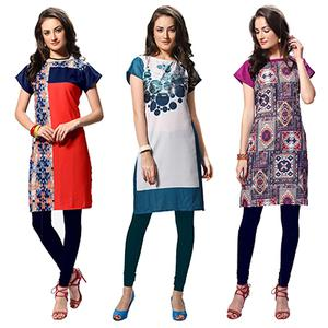 Pack of 3 Casual Wear Printed Kurti