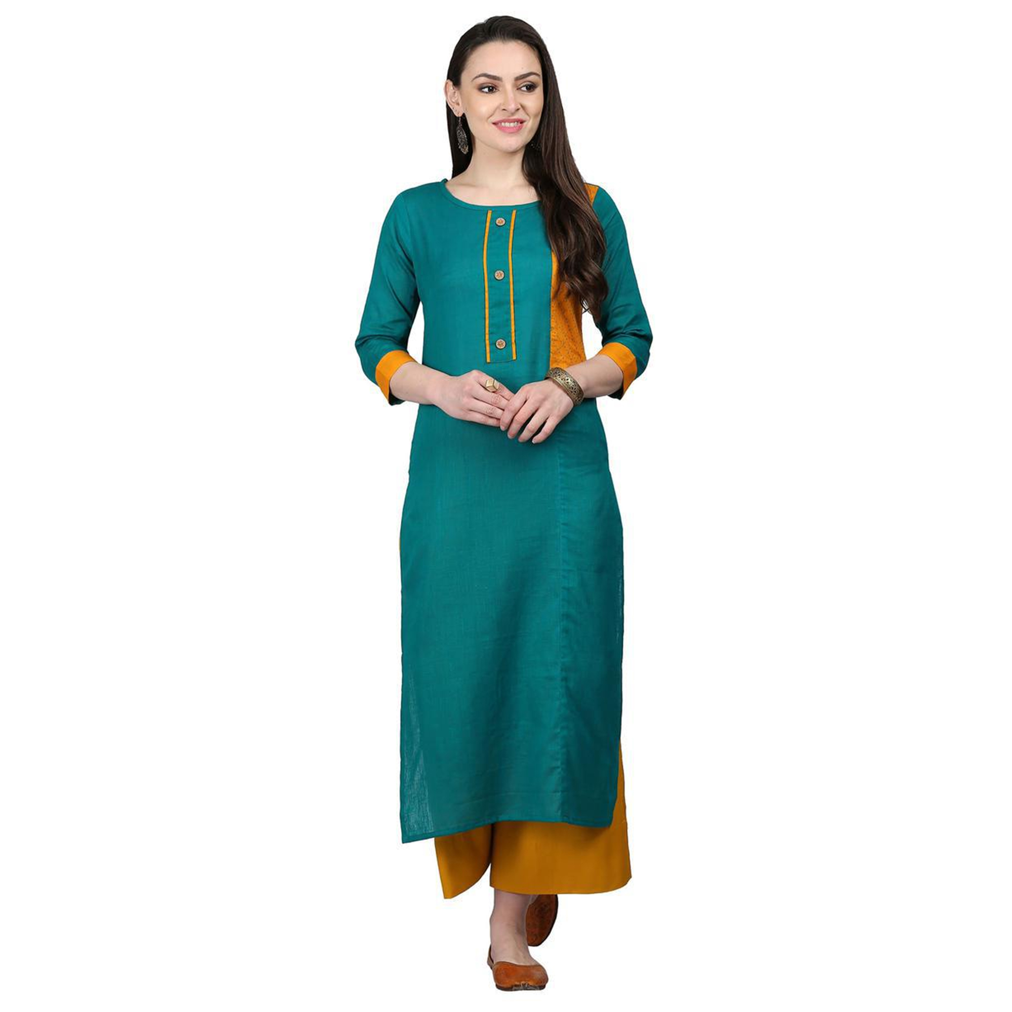 Unique Casual Printed Cotton Kurti - Pack of 2
