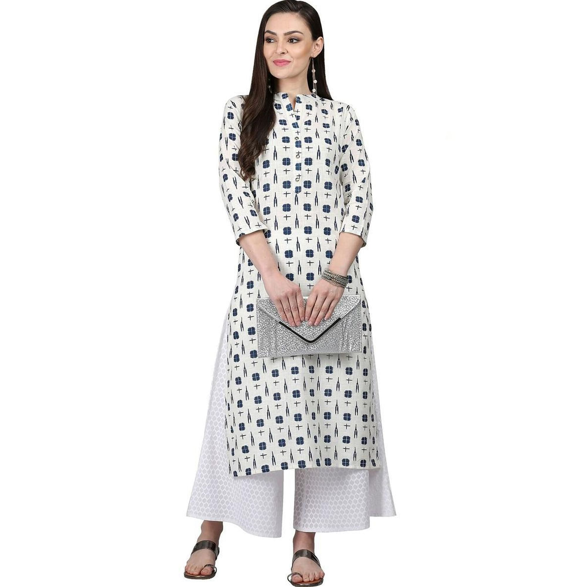 Excellent Casual Printed Cotton Kurti - Pack of 2