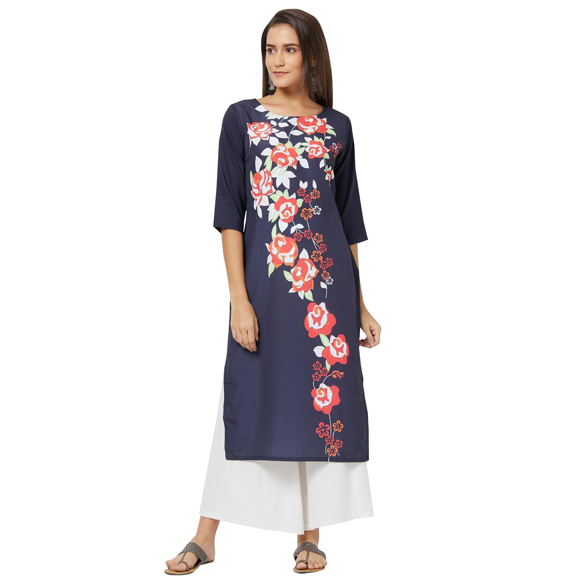 Charming Colored Casual Printed Rayon Kurti - Pack of 2