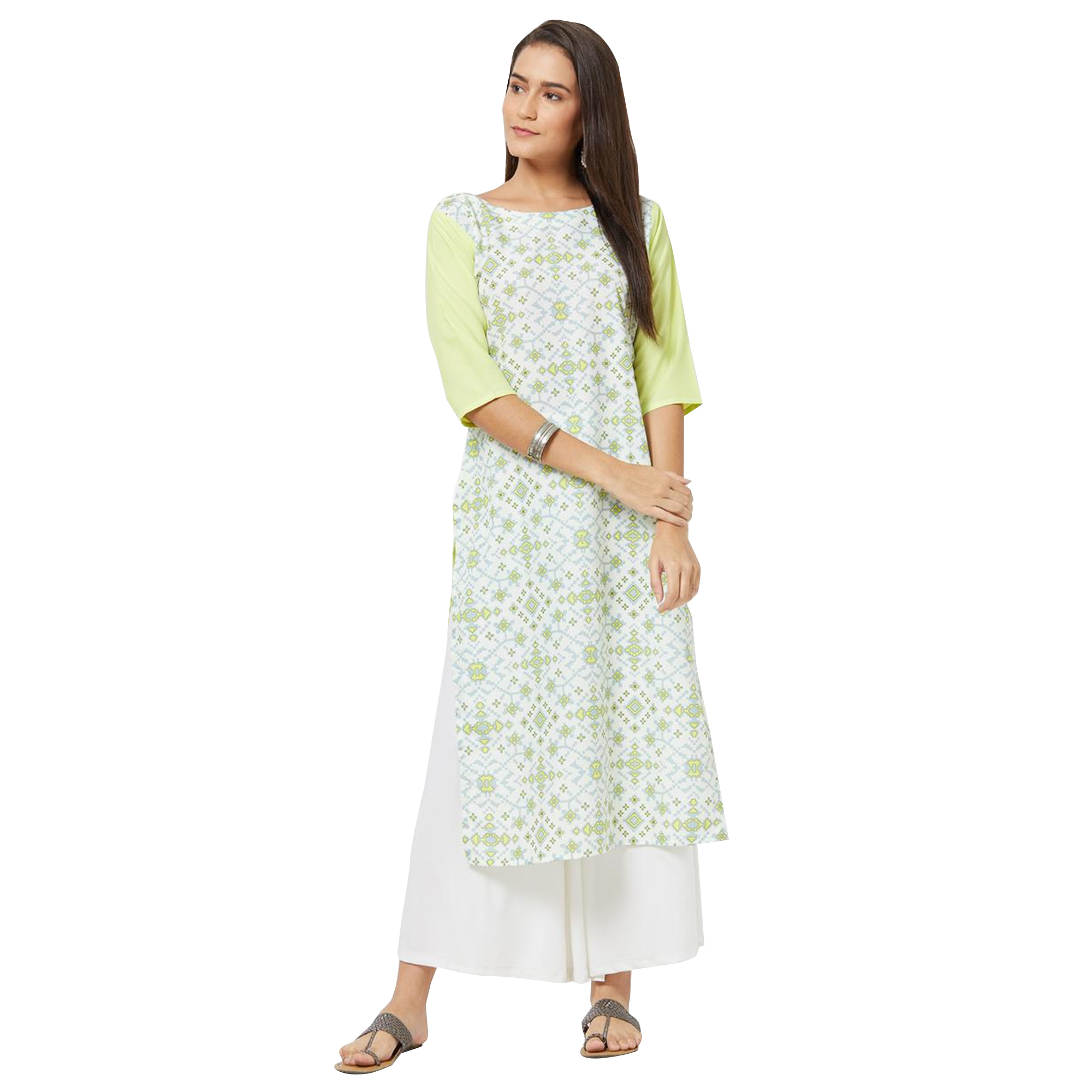 Majesty Colored Casual Printed Rayon Kurti - Pack of 3