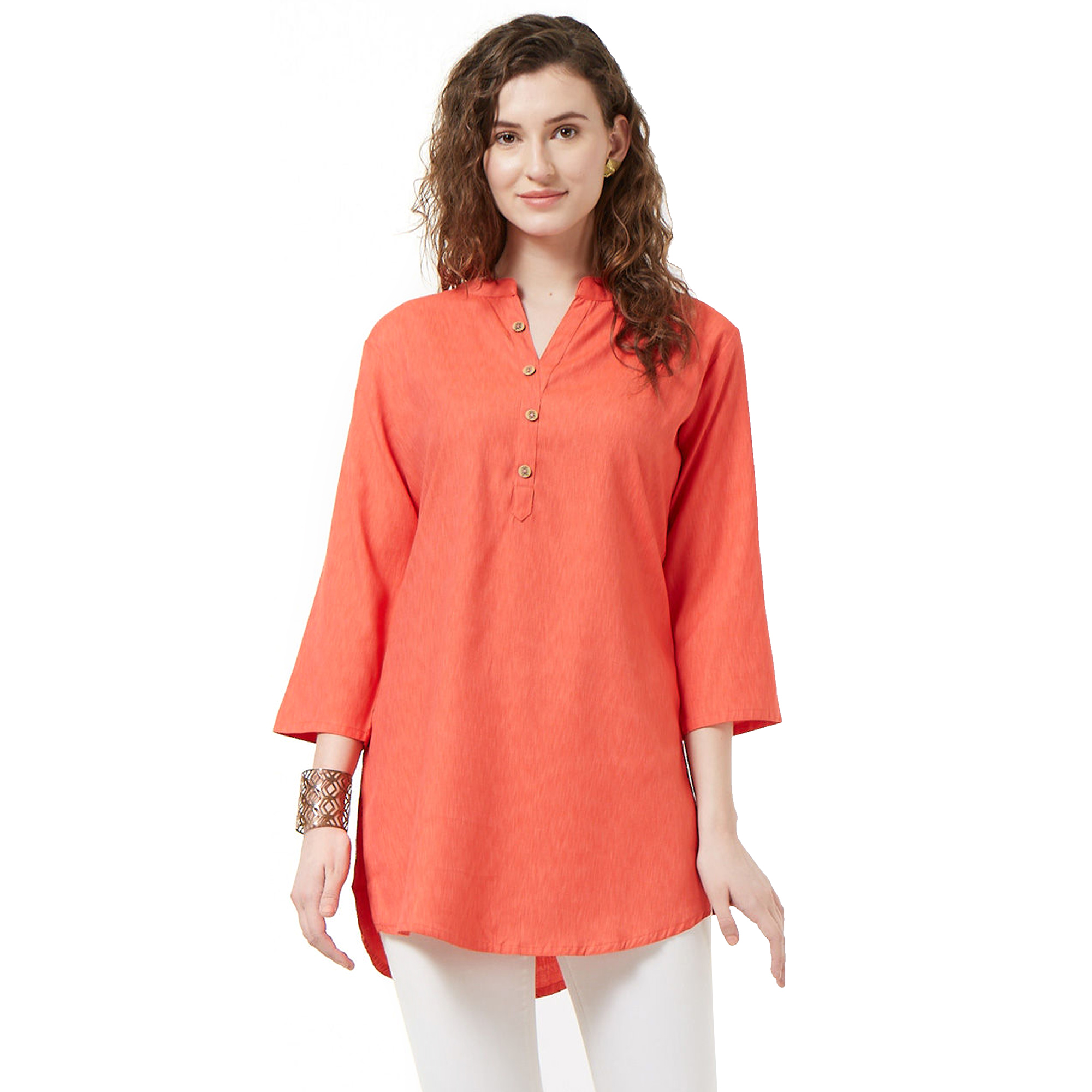 Energetic Casual Wear Cotton Short Kurti - Pack of 2