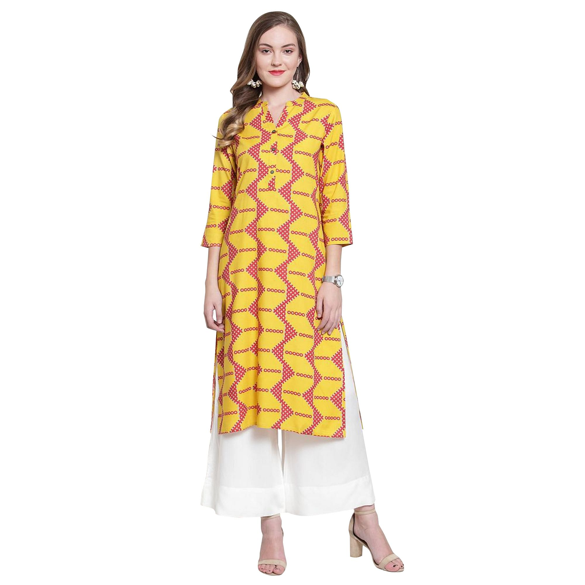 Radiant Casual Printed Rayon-Cotton Kurti - Pack of 2