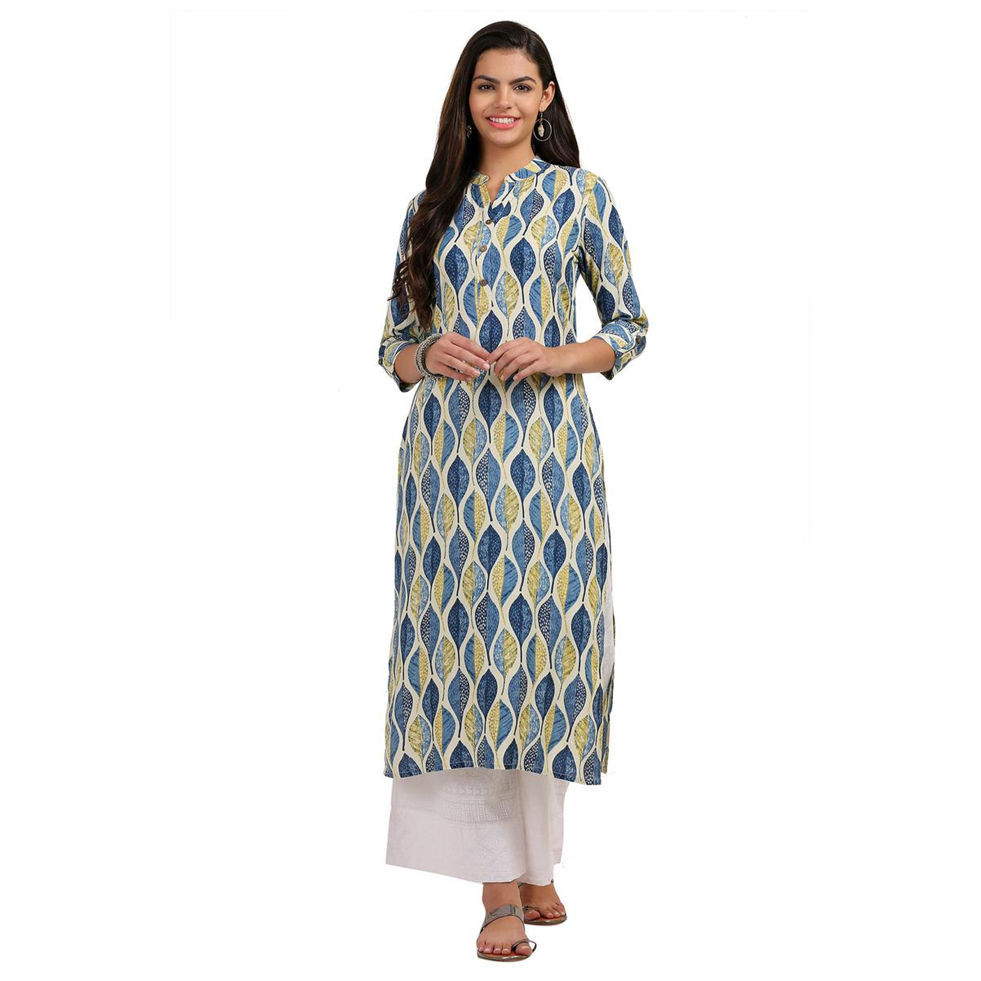 Glowing Casual Printed Cotton-Rayon Kurti - Pack of 2