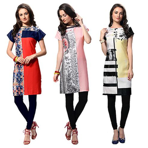 Pack of 3 Stitched Kurti For Summer