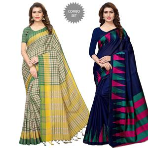 Beautiful Casual Printed Saree - Pack of 2