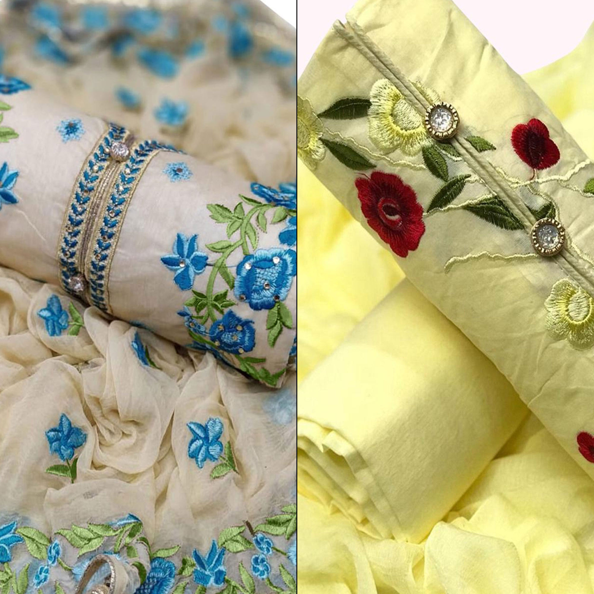mesmeric-partywear-embroidered-chanderi-silk-cotton-dress-material-pack-of-2