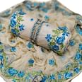 Mesmeric Partywear Embroidered Chanderi Silk-Cotton Dress Material - Pack of 2