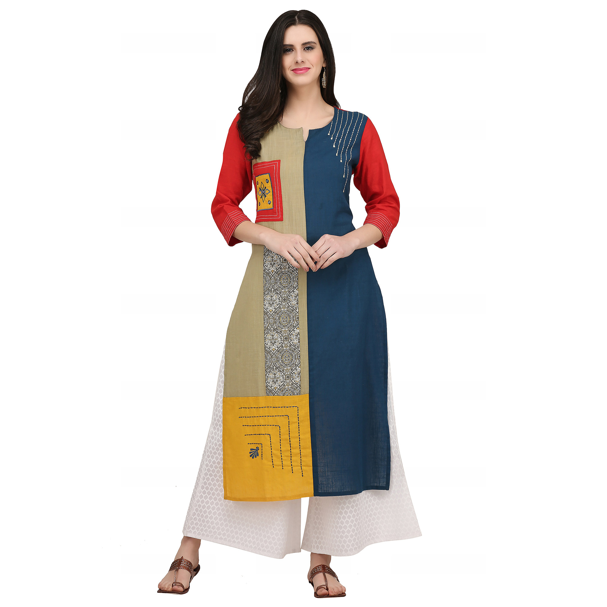Capricious Casual Printed Cotton Kurti - Pack of 2