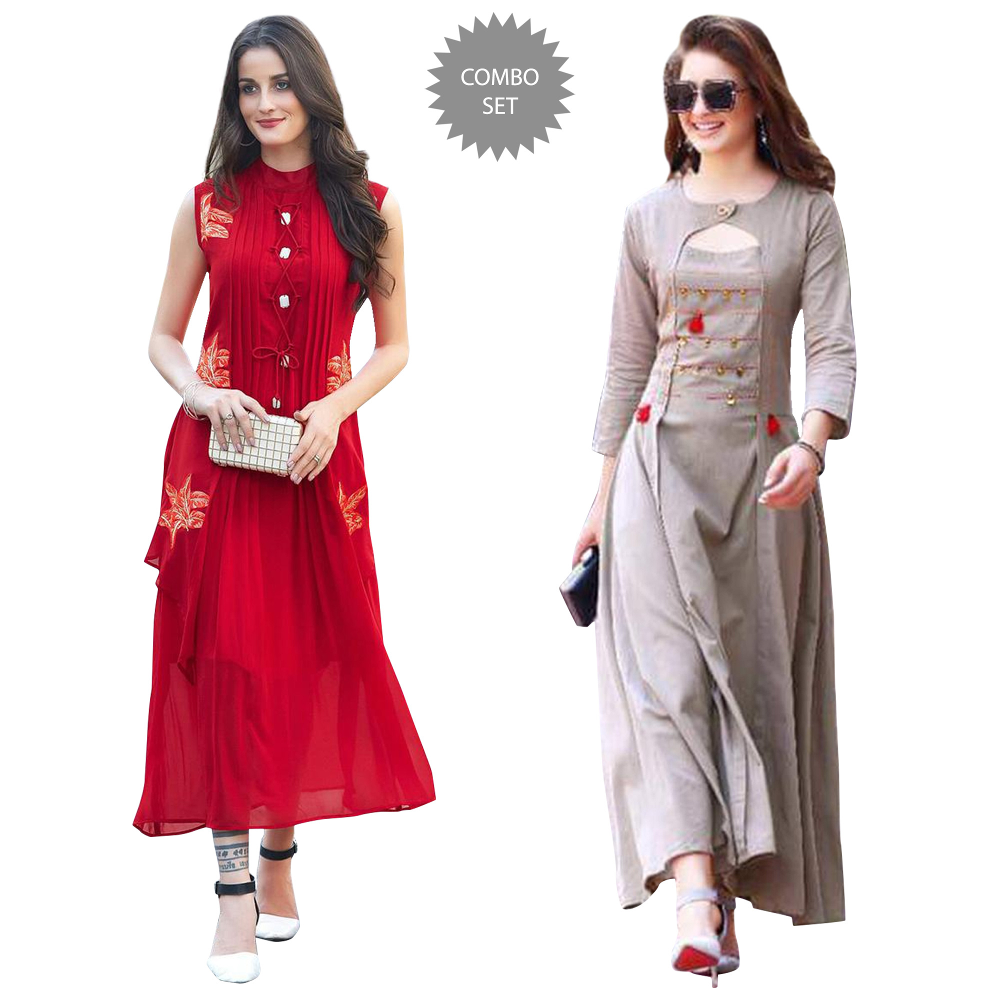 ethnic-partywear-embroidered-georgette-rayon-kurti-pack-of-2