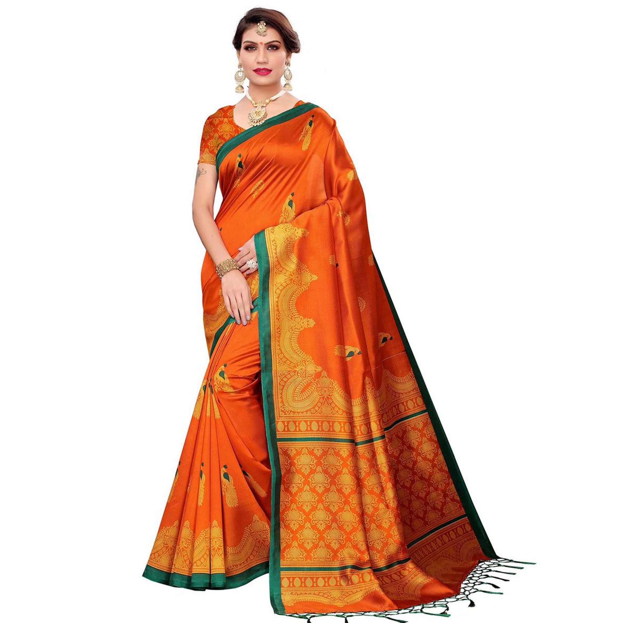 Flaunt Casual Printed Saree - Pack of 3