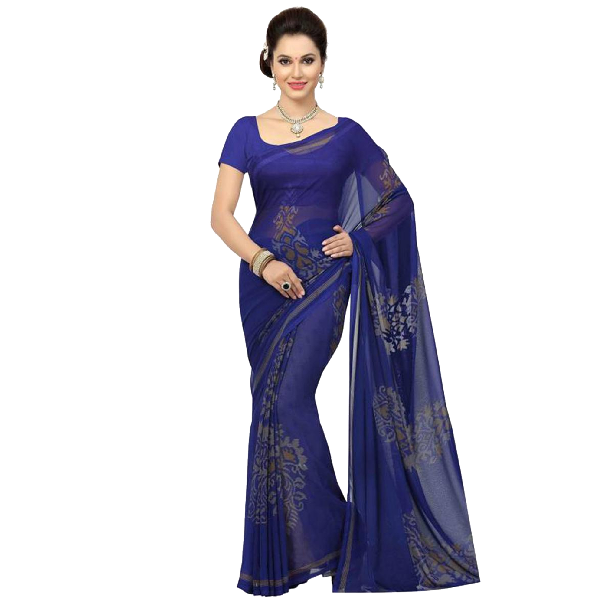 Exceptional Casual Printed Georgette Saree - Pack of 3
