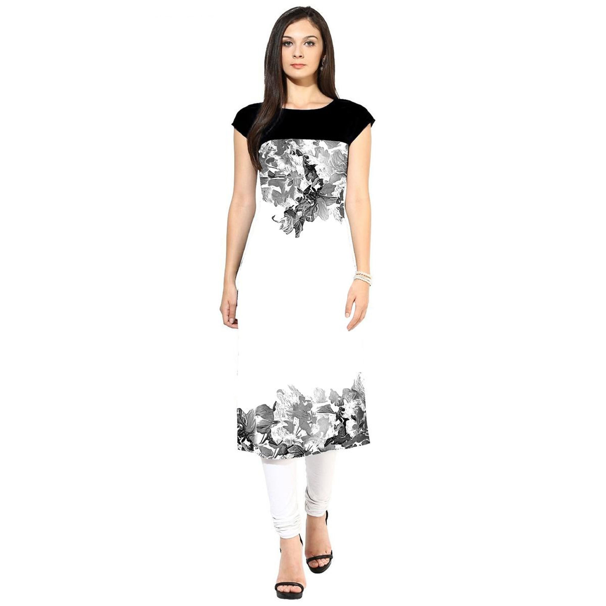 Lovely Casual Printed Crepe Kurti - Pack of 3 With Leggings