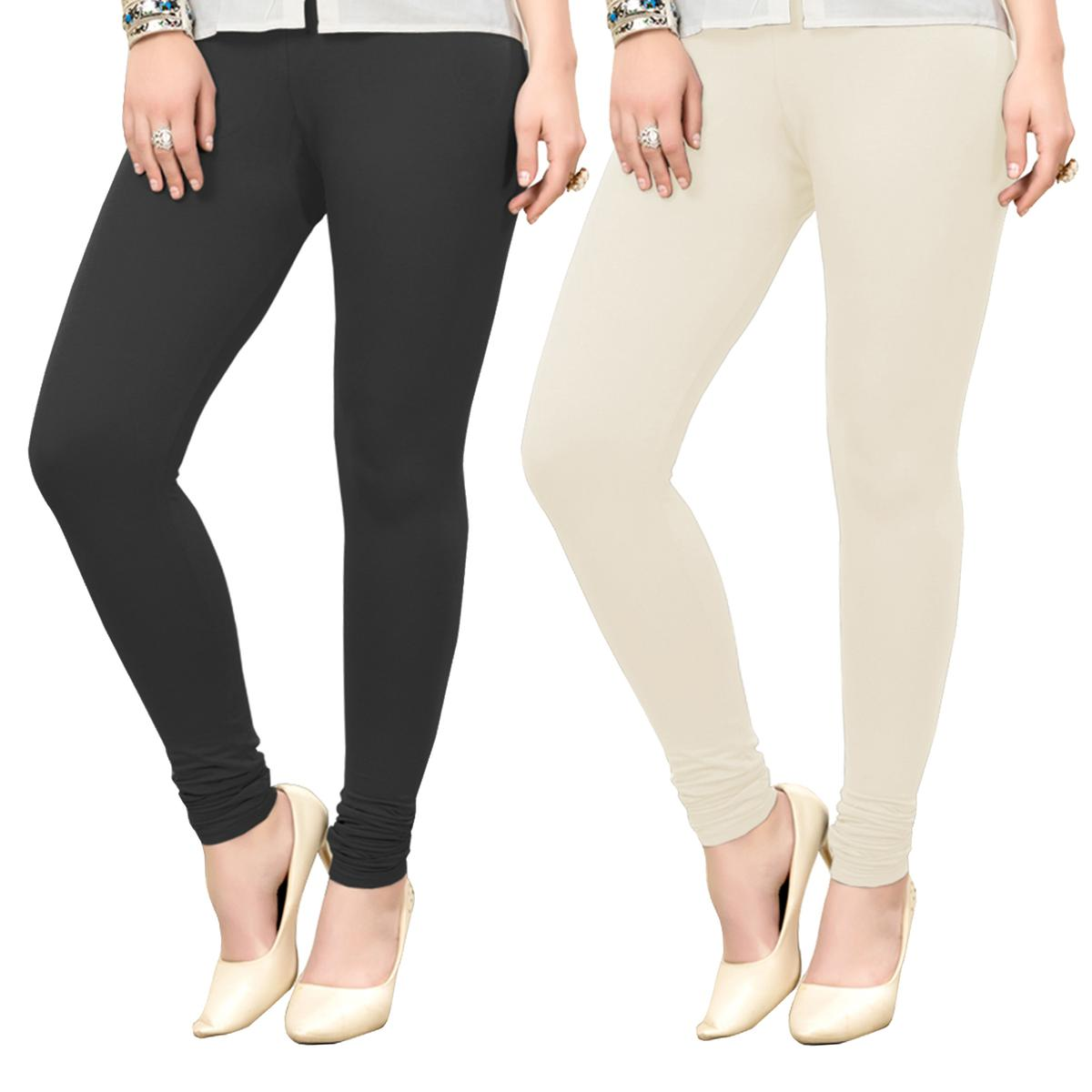 Amazing Casual Wear Ankle Length Cotton Leggings - Pack of 2