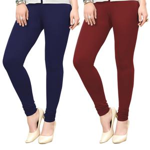 Ideal Casual Wear Ankle Length Cotton Leggings - Pack of 2