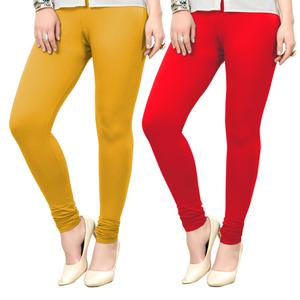 Lovely Casual Wear Ankle Length Cotton Leggings - Pack of 2