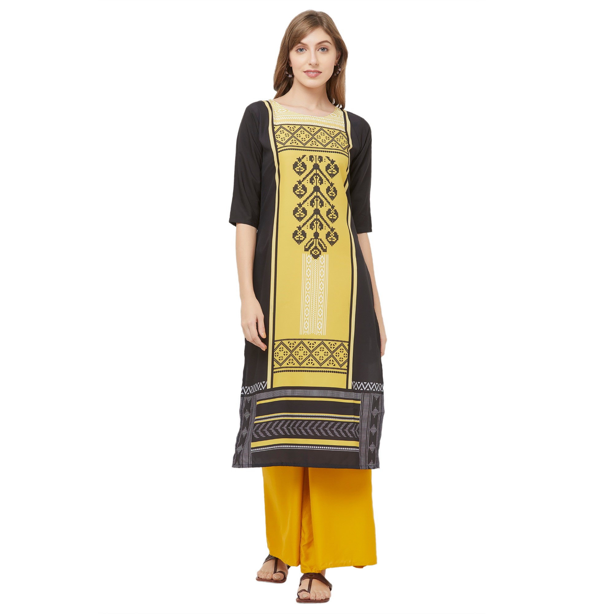 Elegant Casual Printed Crepe Kurti - Pack of 2
