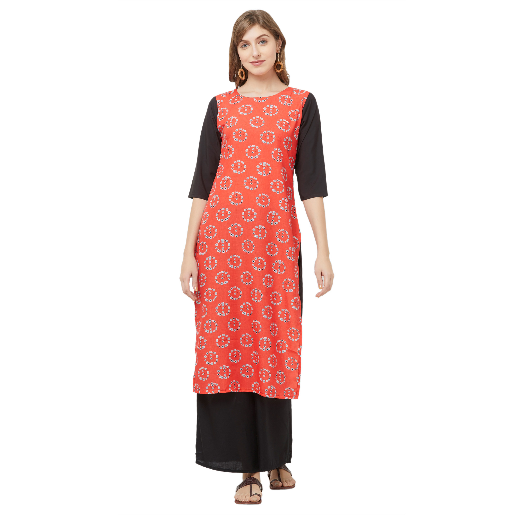 Energetic Casual Printed Crepe Kurti - Pack of 2