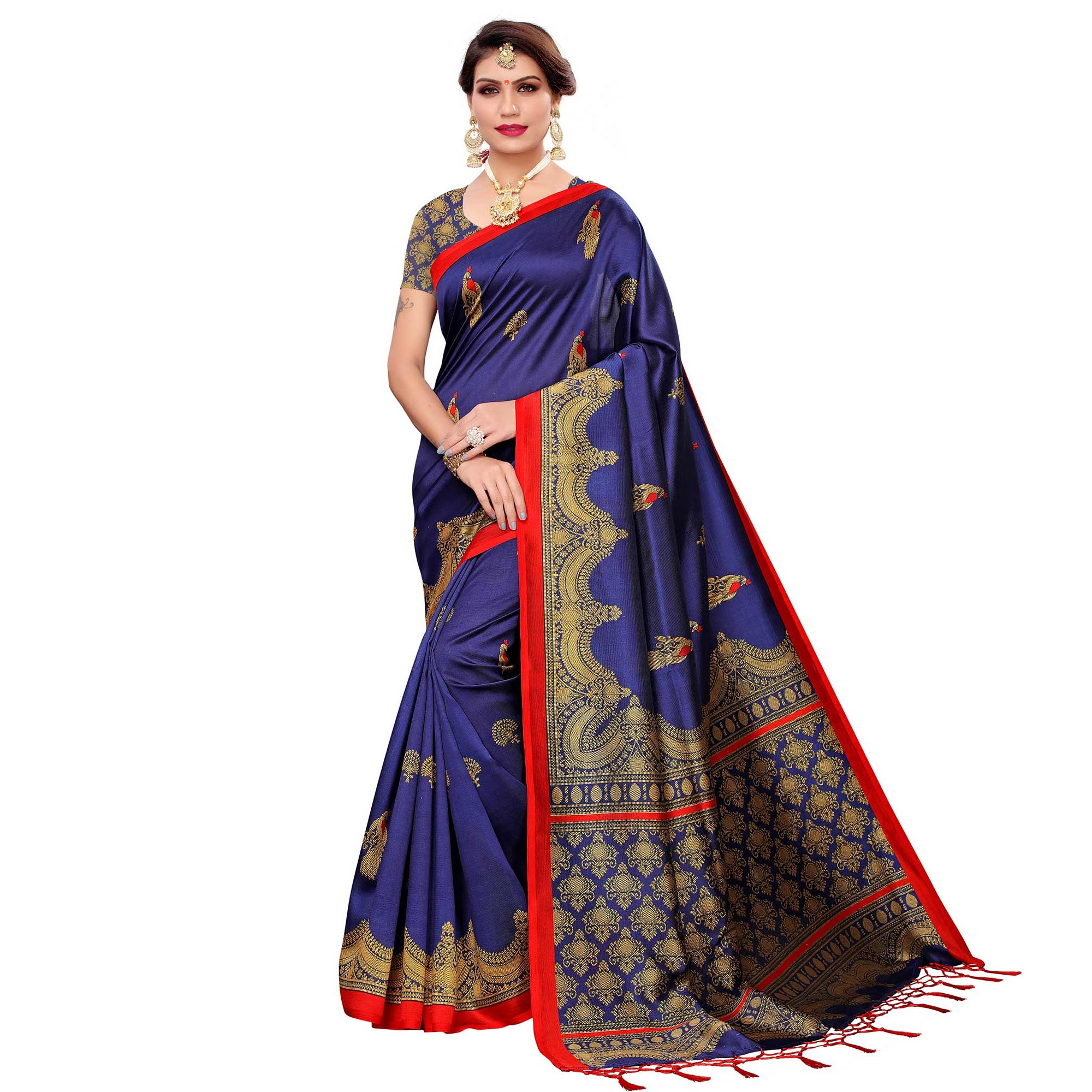 Prominent Casual-Festive Wear Printed Saree - Pack of 3