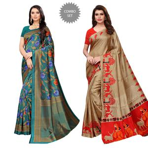 Demanding Casual Wear Printed Saree - Pack of 2