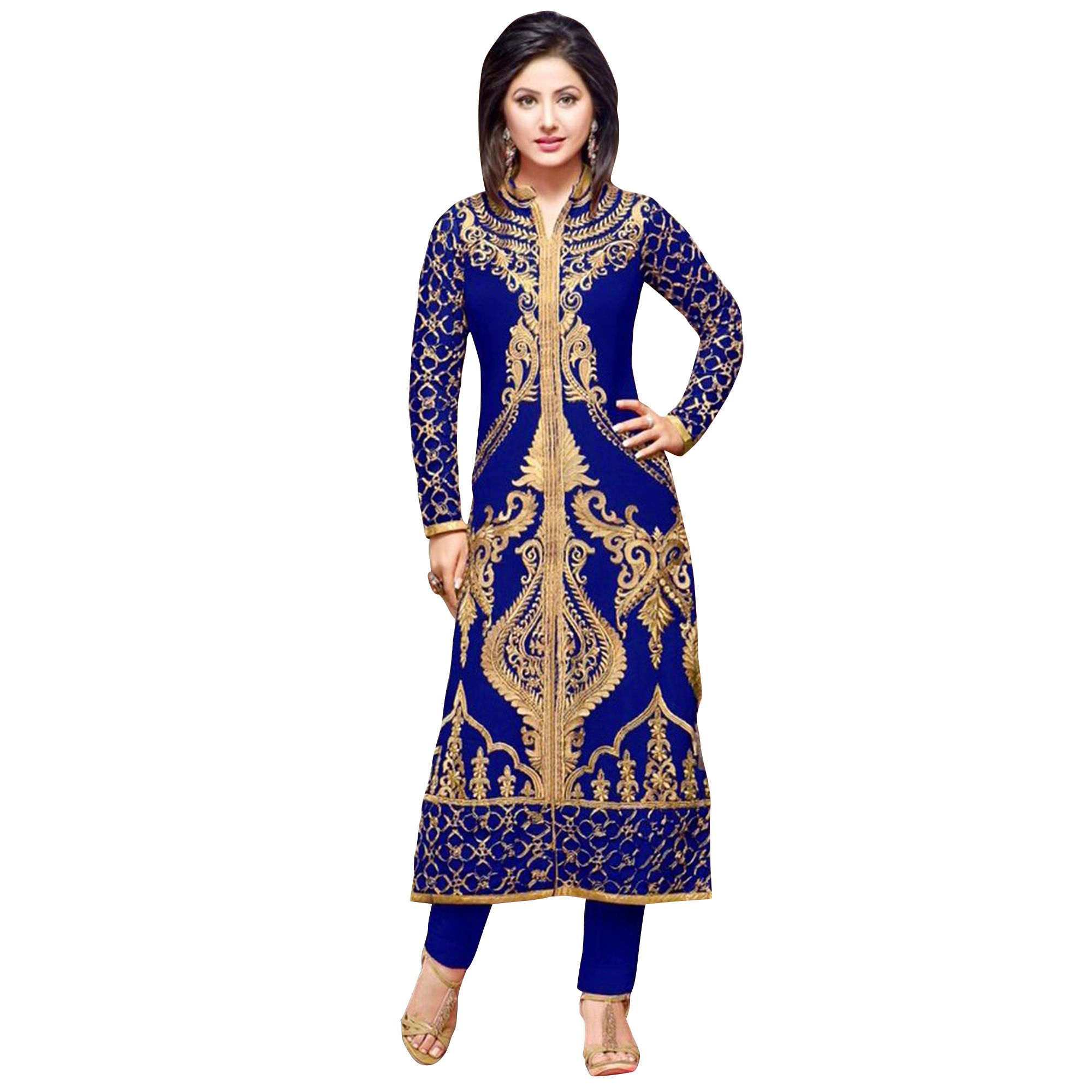 Breathtaking Partywear Embroidered Georgette Suit - Pack of 2