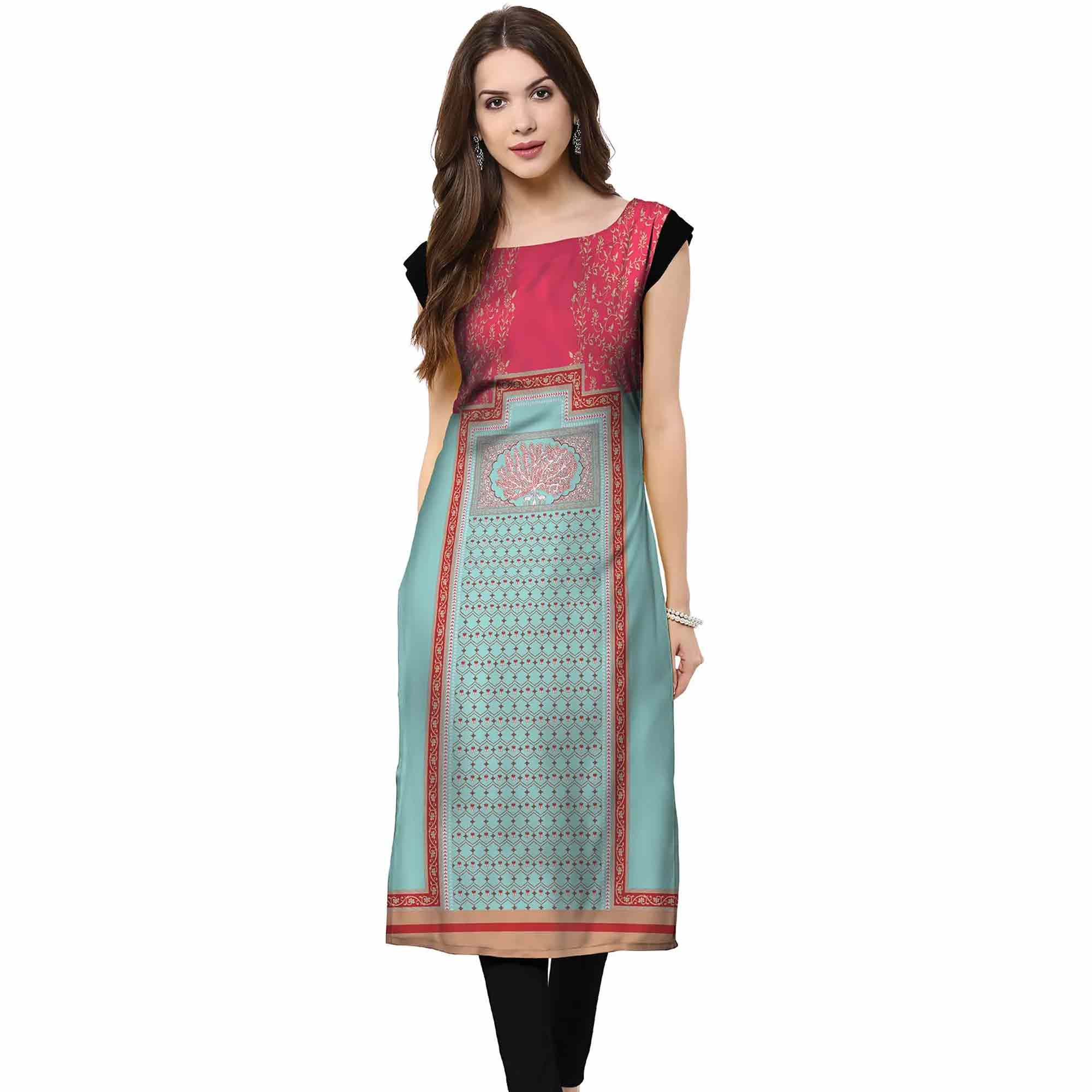 Prominent Casual Printed Crepe Kurti - Pack of 2