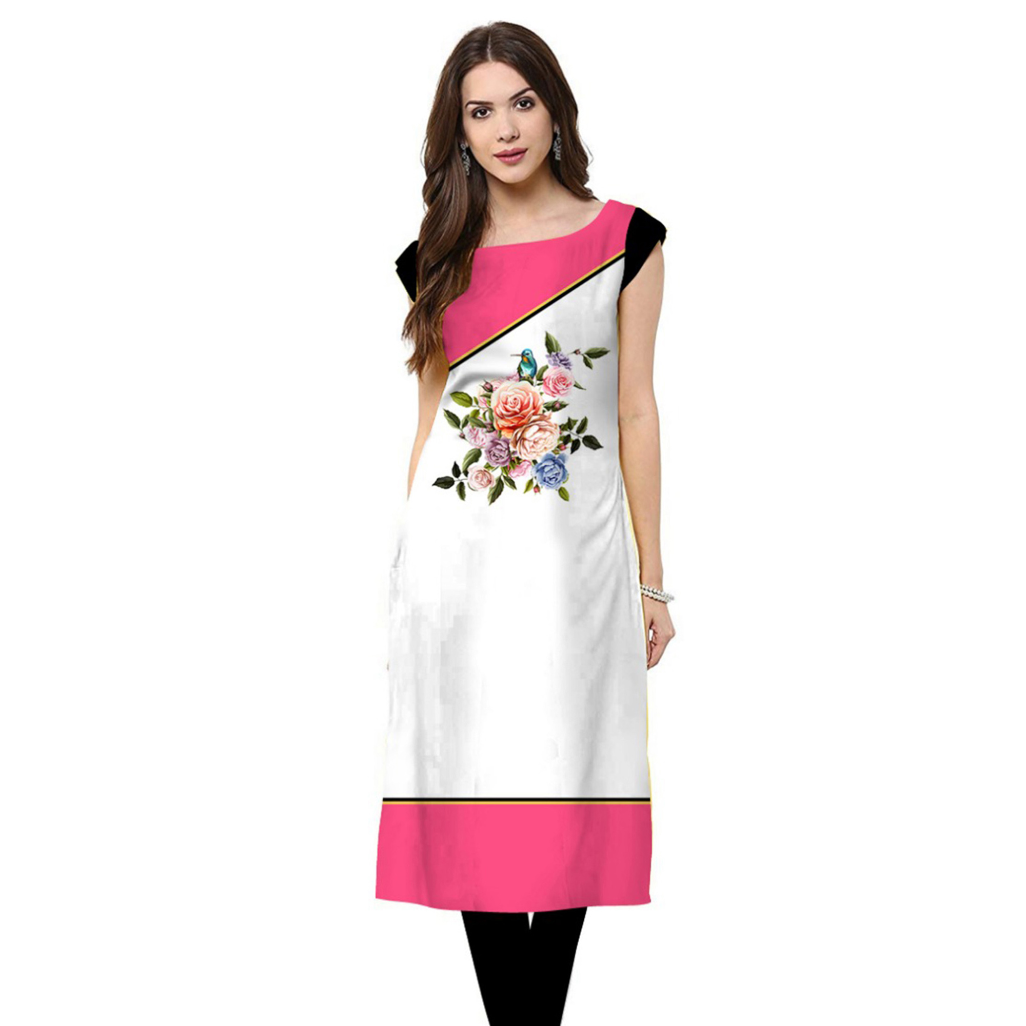 Ideal Casual Printed Crepe Kurti - Pack of 2