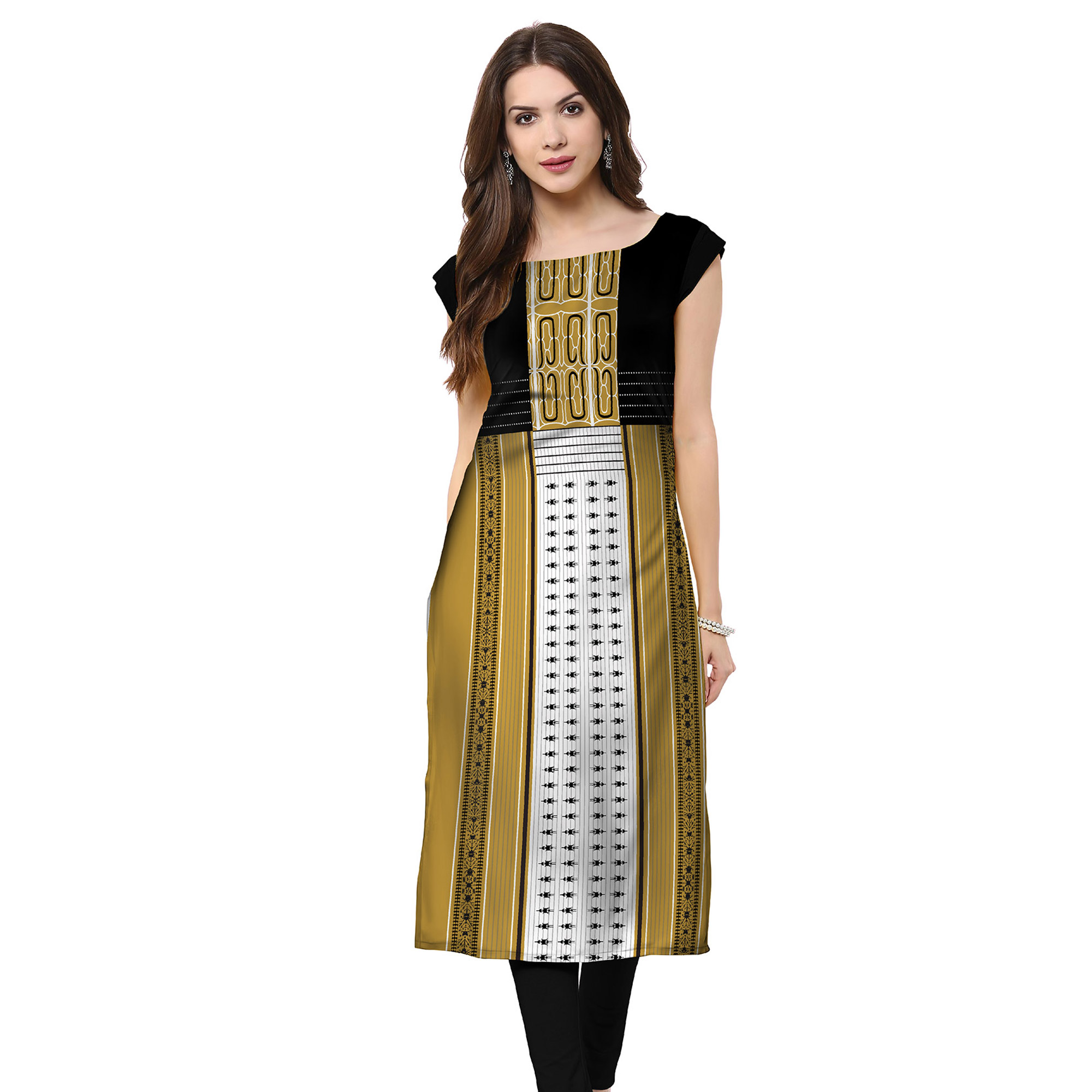 Majesty Casual Printed Crepe Kurti - Pack of 3
